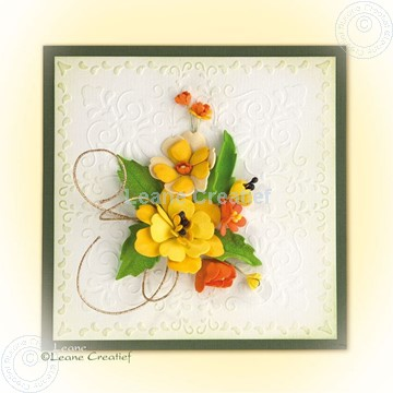 Image de Foam flowers with set 4 yellow