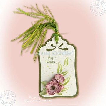 Bild von Label with foam flowers