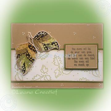 Afbeeldingen van Doodle stamp leaves