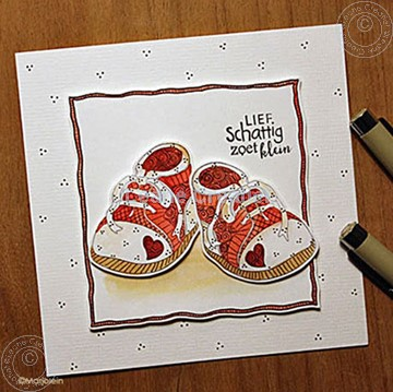 Image de Doodle stamp Baby shoes