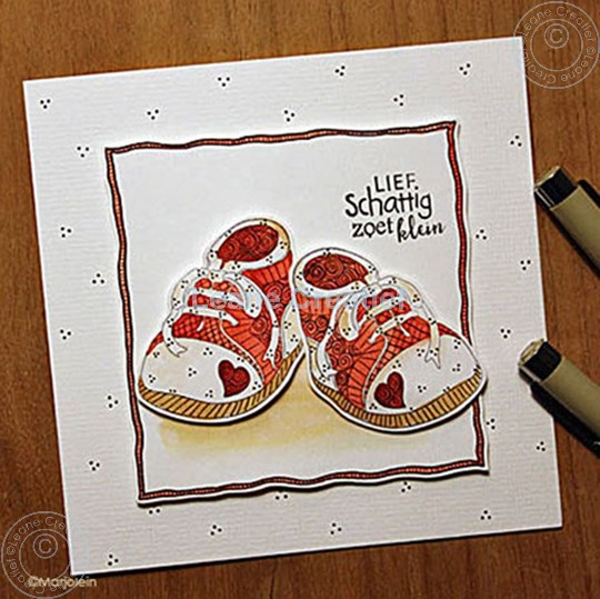Image sur Doodle stamp Baby shoes