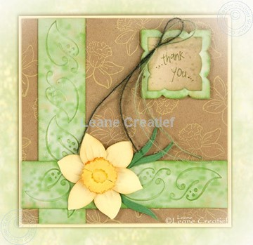 Bild von Embossing folder border leaves