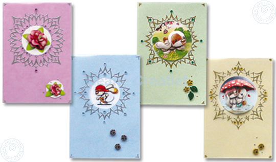 Picture of Sticker-V-Stitch with Mylo & Friends® and flowers