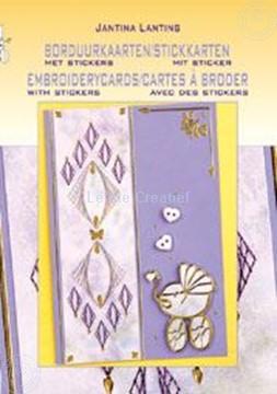 Image de Cartes à broder avec des sticker
