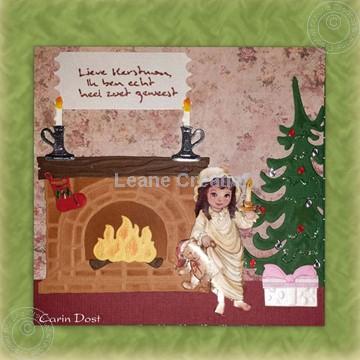 Image de Noël autour la cheminée