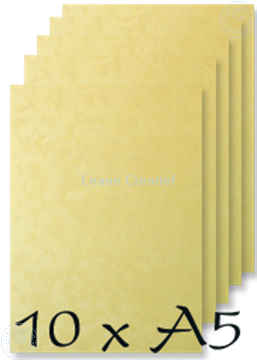 Image de Papier A5 Peacock yellow 200 gr