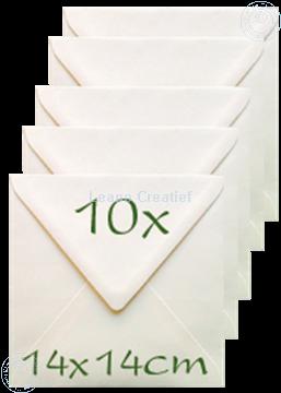 Bild von Briefumschläge 14x14cm cream