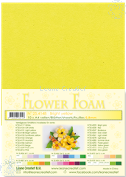 Bild von Flower foam A4 sheet bright yellow
