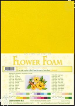 Bild von Flower foam A4 sheet sunflower yellow