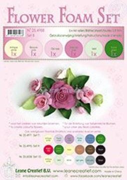 Image de Flower foam set 8 couleurs rose