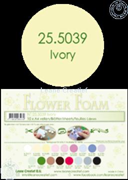 Bild von Flower foam A4 sheet ivory