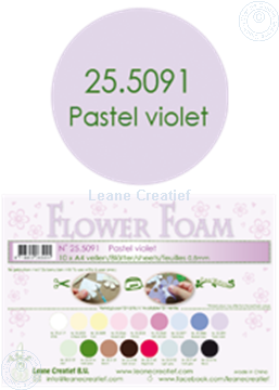 Afbeeldingen van Flower foam A4 sheet pastel violet