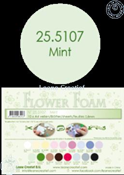 Afbeeldingen van Flower foam A4 sheet mint