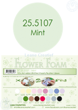 Bild von Flower foam A4 sheet mint