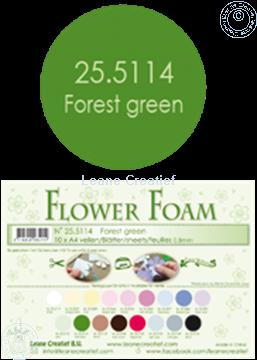 Bild von Flower foam A4 sheet forest green