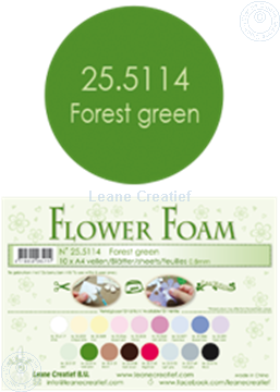 Afbeeldingen van Flower foam A4 sheet forest green