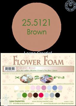 Afbeeldingen van Flower foam A4 sheet brown