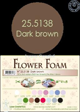Bild von Flower foam A4 sheet dark brown