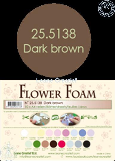 Afbeelding van Flower foam A4 sheet dark brown