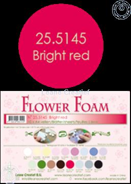 Bild von Flower foam A4 sheet bright red