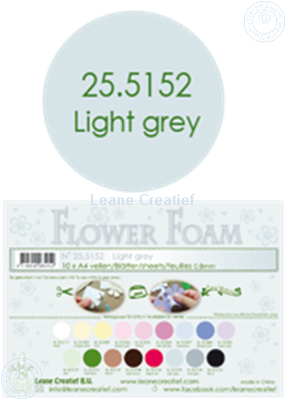 Afbeeldingen van Flower foam A4 sheet light grey