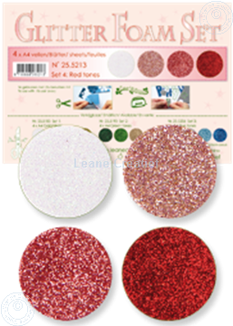 Image de Glitter Foam set 4 teintes rouges