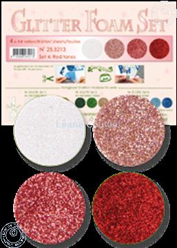 Afbeeldingen van Glitter Foam set 4 rode kleuren