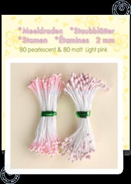 Image de Étamines ± 80 matt & 80 pearl light pink