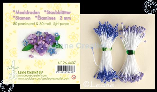 Afbeelding van Meeldraden ± 80 matt & 80 pearl light purple