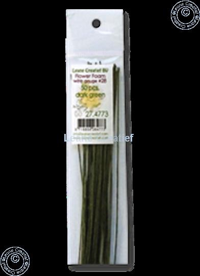 Afbeelding van paper wrapped wire #28 dark green