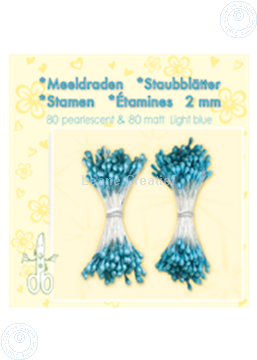 Image de Étamines ± 80 matt & 80 light blue