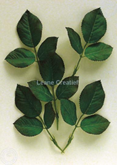 """Afbeelding van LeCreaDesign® Bladgroen pakket """"Blad rozen"""""""