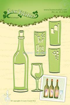 Bild von Wine bottle & glass