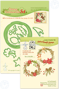 Bild von Set Lea'bilitie&Clearstamp Christmas wreath