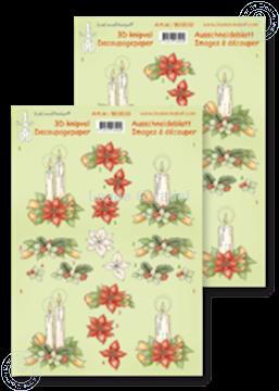 Picture of Decoupagepaper Christmas arrangement