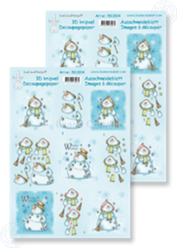 Picture of Decoupagepaper snowmen