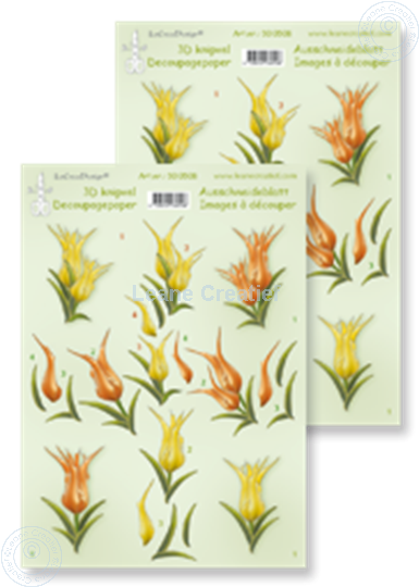 Picture of LeCreaDesign® decoupage papers tullips