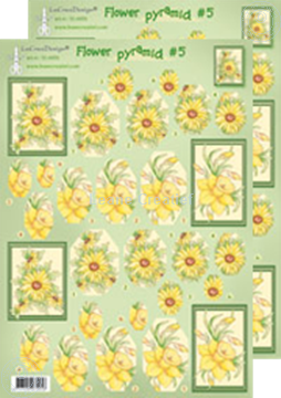 Picture of Pyramid flower decoupage sheets 50.4956