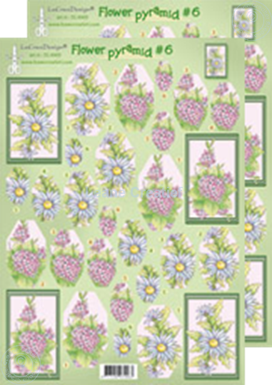 Picture of Pyramid flower decoupage sheets 50.4963