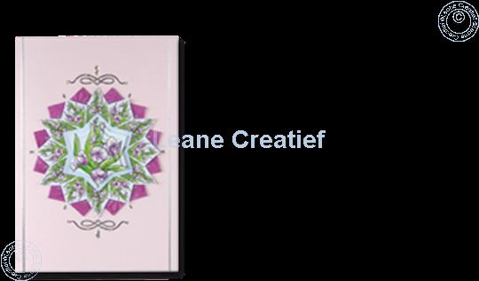 Afbeelding van Rozetten Pyramid vel Bloemen roze/blauw