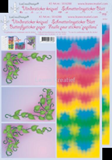 Afbeelding van LeCreaDesign® Vlindersticker knipvellen