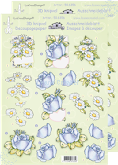 Picture of LeCreaDesign® decoupage papers marguerites/roses