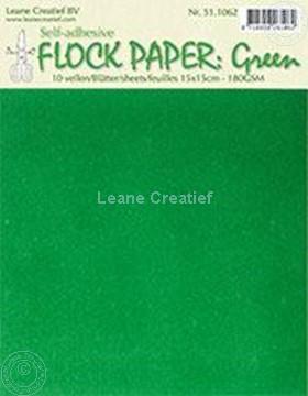 Image de Flock paper green 15x15cm