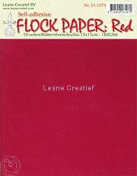 Image de Flock paper red 15x15cm