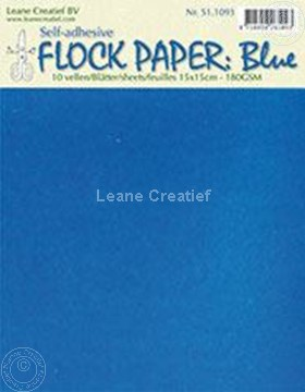 Image de Flock paper blue 15x15cm