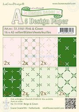 Picture of Design sheets pink & green A5