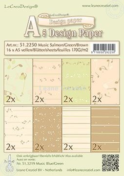 Picture of Design Paper Music salmon/green/brown