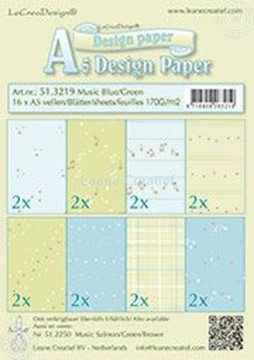 Picture of Design Paper Music blue/green