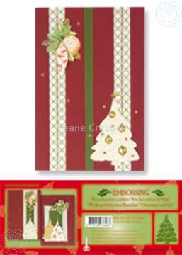 Image de Kit des cartes de Noël embossing rouge