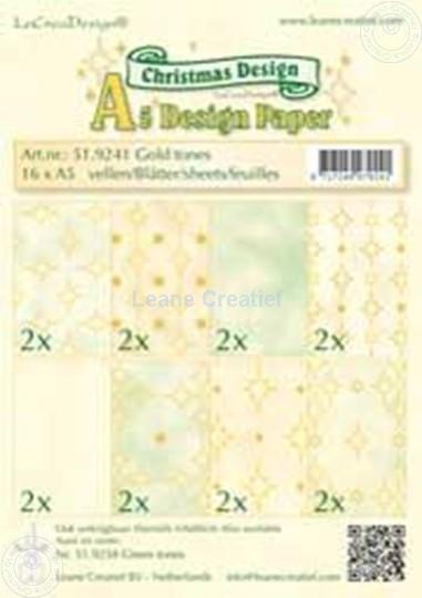 Image sur Feuilles décorées gold tones A5